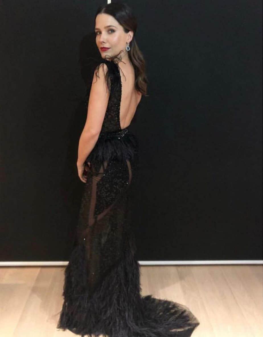 סופי בוש לובשת שמלה של ברטה לערב הסילבסטר. צילום יחצ חול