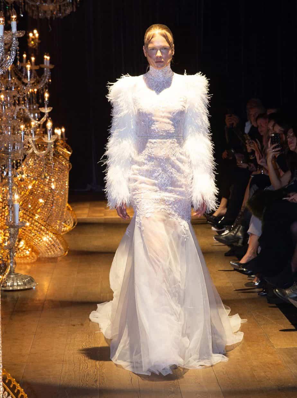 שילוב בדים רבים בשמלה אחת מוגזמת במיוחד, המשולבים בדיוק מדויק להפליא. קיי קיי קוטור, צילום שגב אורלב5