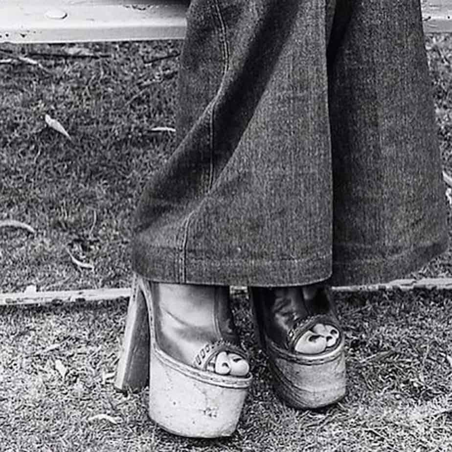 70's פדלפון ונעלי פלטפורמה