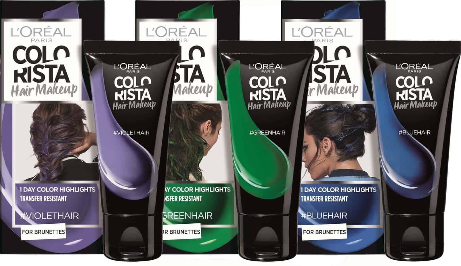 איפור לשיער ליום אחד, איפור שיער לפורים, COLORISTA Hair Makeup By L'OREAL PARIS, קולוריסטה ג'ל לשיער לוריאל פריז - 1 6