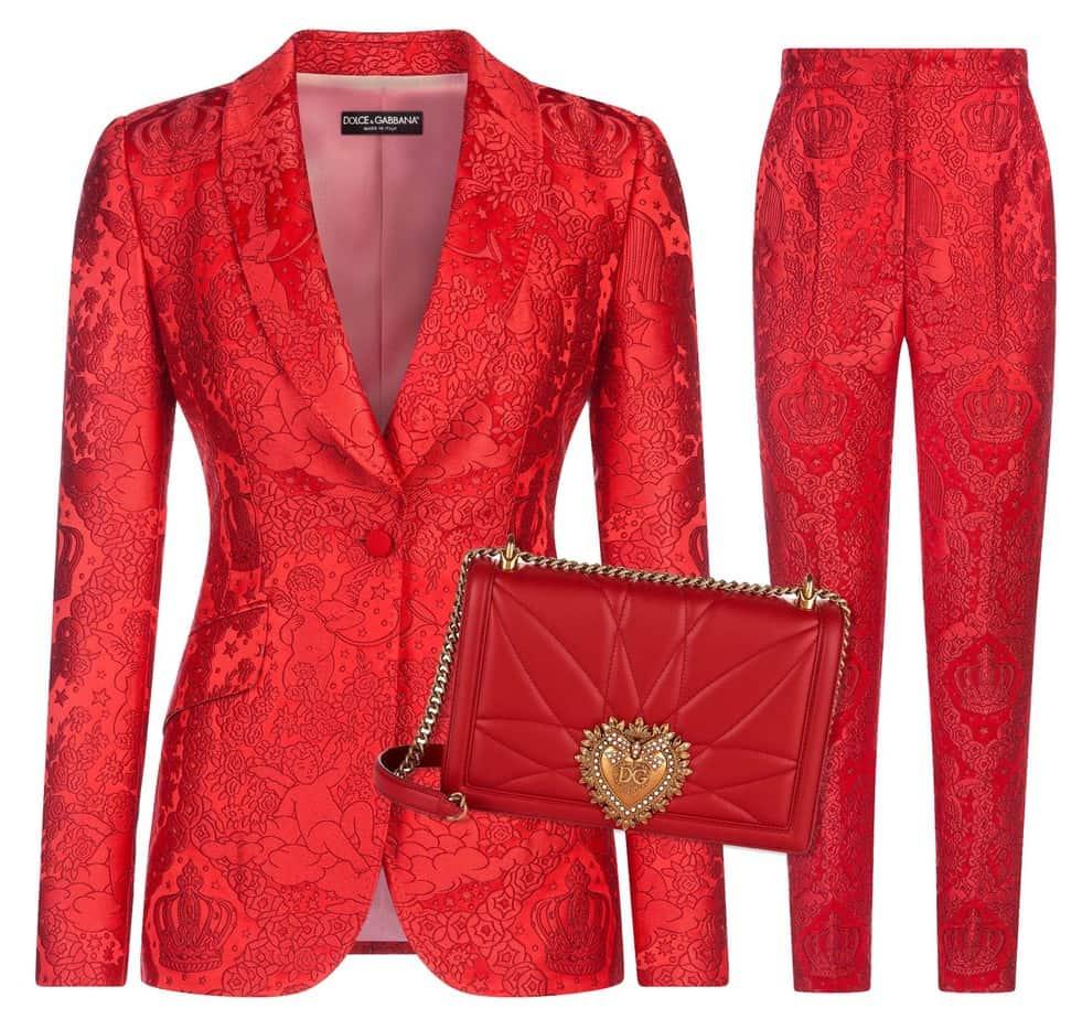 ז׳קט דולצ׳ה גבאנה, מכנסיים דןלצ׳ה גבאנה, תיק דולצ׳ה גבאנה, Dolce Gabbana 8990 NEW 4495 NIS