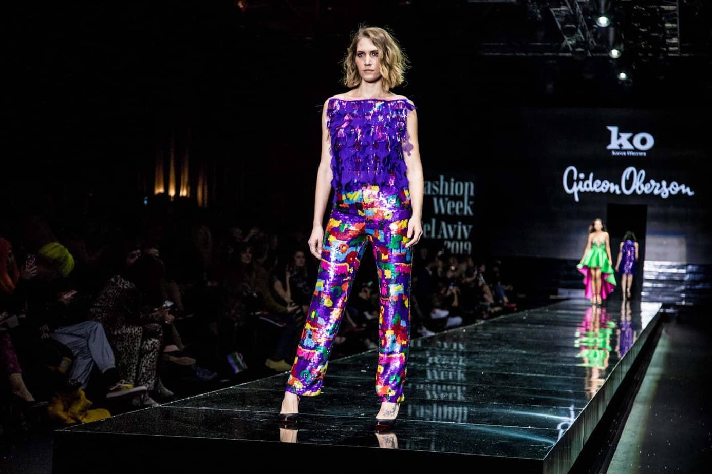 ג׳ני צרנוי. גדעון אוברזון. שבוע האופנה תל אביב 2019. צילום: אלכס פרגמנט
