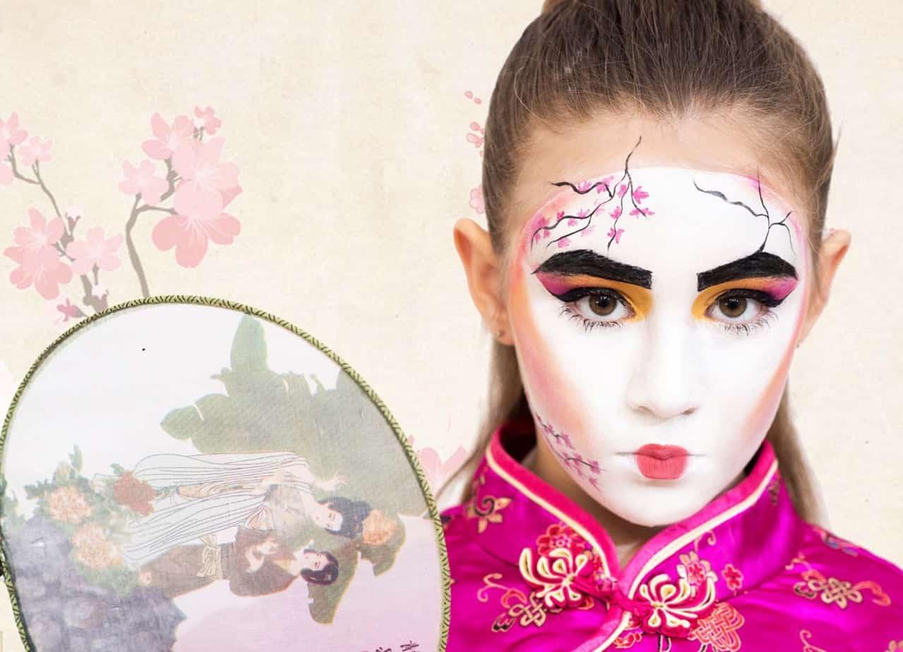 איפור לפורים, תחפושת לפורים,, יפנית לבועז שטיין צילום מוטי זאבי