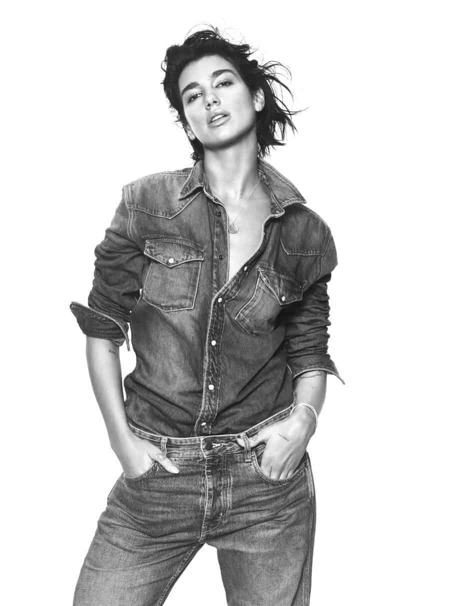 דואה ליפה שגרירת מותג הדנים פפה ג׳ינס לונדון. צילום: דיוויד סימס