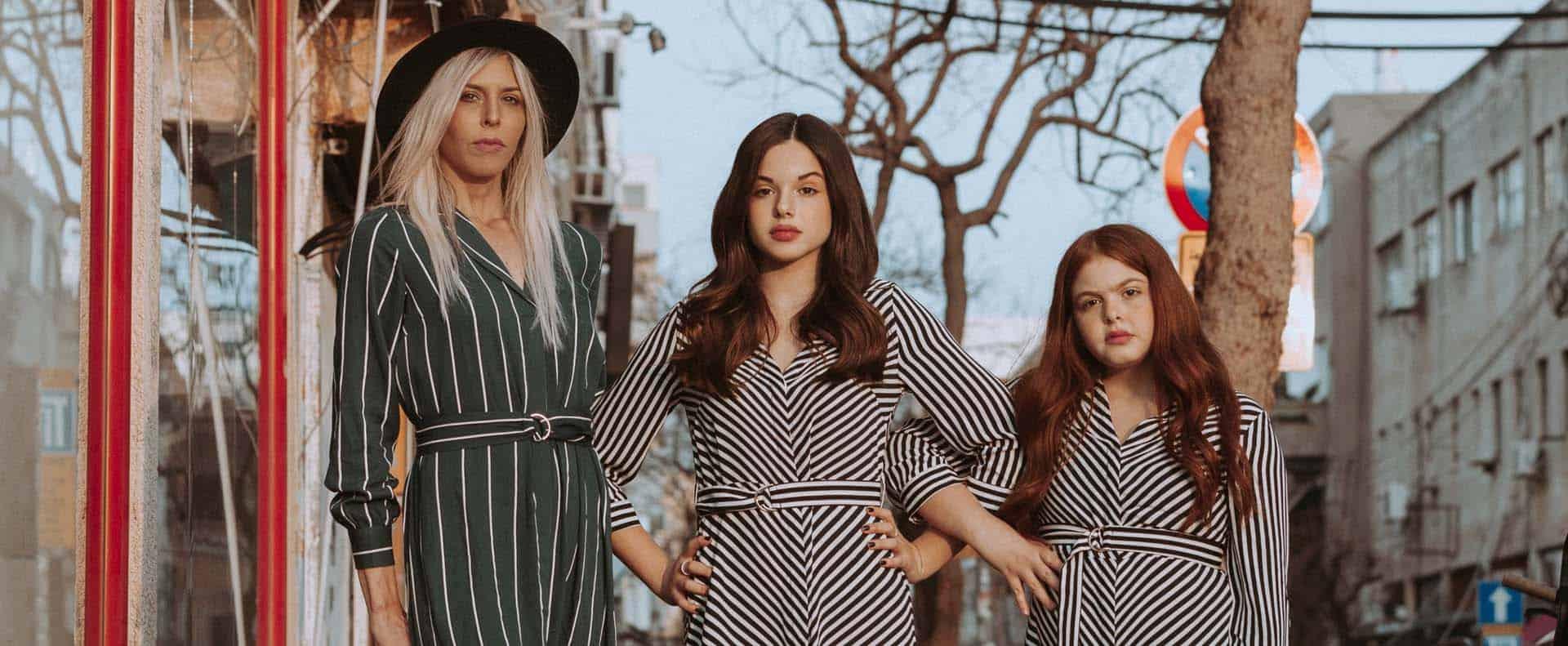 אורנה רביצקי והבנות אור שרעבי, אגם שרעבי צילום שלומית איציק, - Fashion Israel - מגזין אופנה