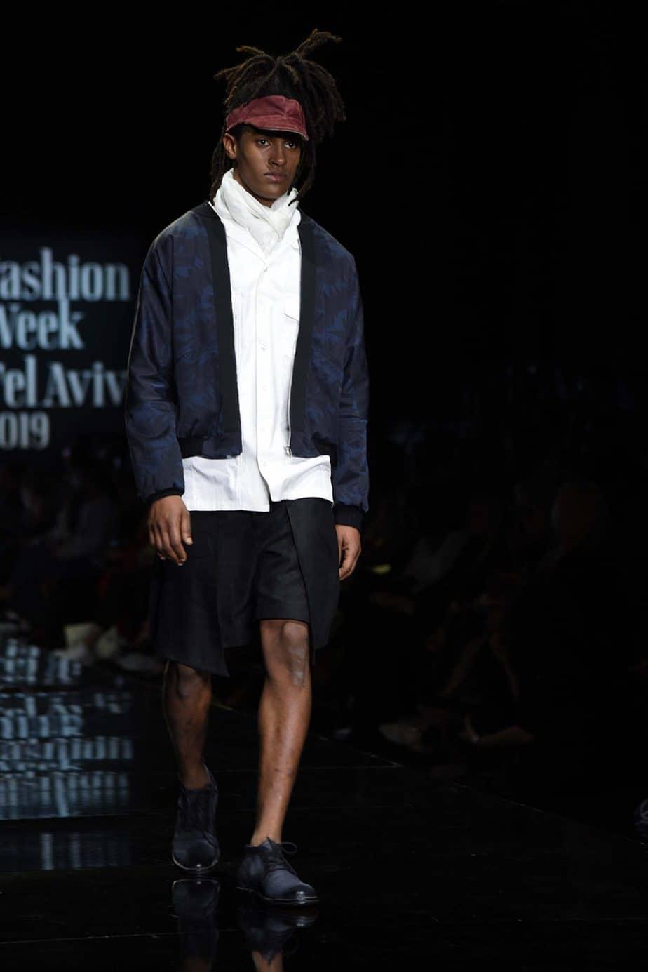 ענר שבח ל-Aner 5777. חממת מפעל הפיס. שבוע האופנה תל אביב 2019. צילום: לימור יערי