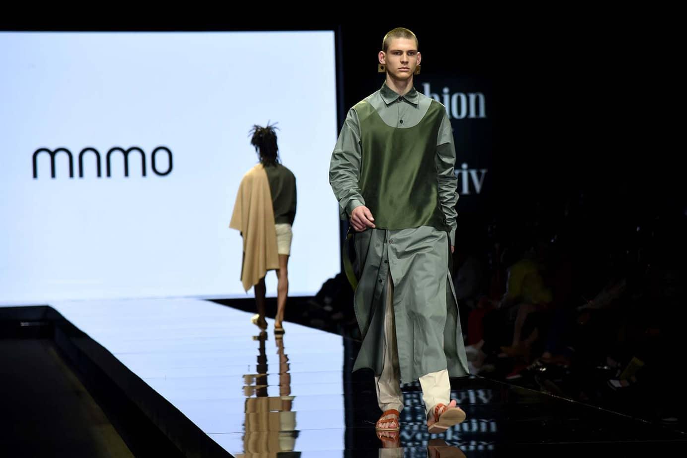 שירן ראובן ל-Mamo. חממת מפעל הפיס. שבוע האופנה תל אביב 2019. צילום: לימור יערי