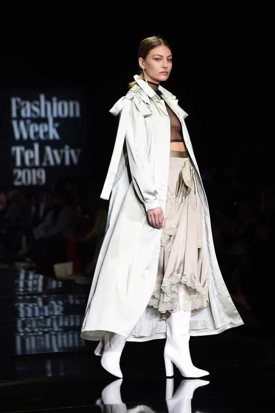 שירלי לסרי ל״פטי פואה״. חממת מפעל הפיס. שבוע האופנה תל אביב 2019. צילום: לימור יערי