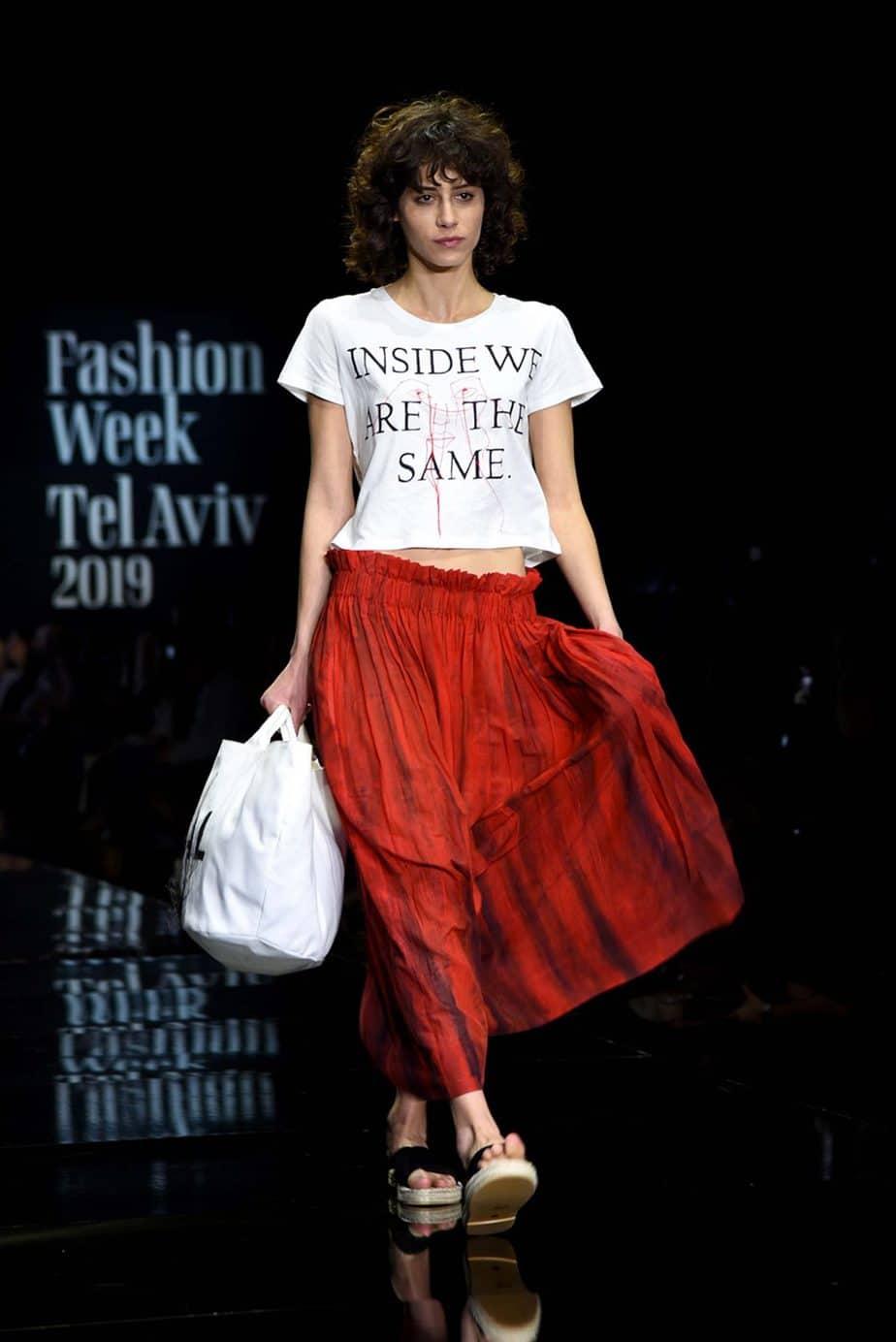 מיכל ירסאנש מנגיסטו. חממת מפעל הפיס. שבוע האופנה תל אביב 2019. צילום: לימור יערי - 1