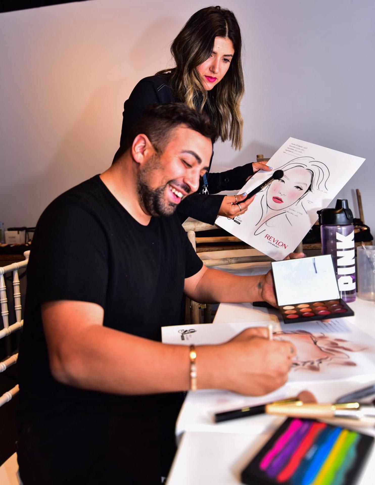 אירוויזיון 2019, גילי אלגבי המאפר הראשי של האירוויזיון מטעם רבלון צילום צילום Danial Anduriel - 5