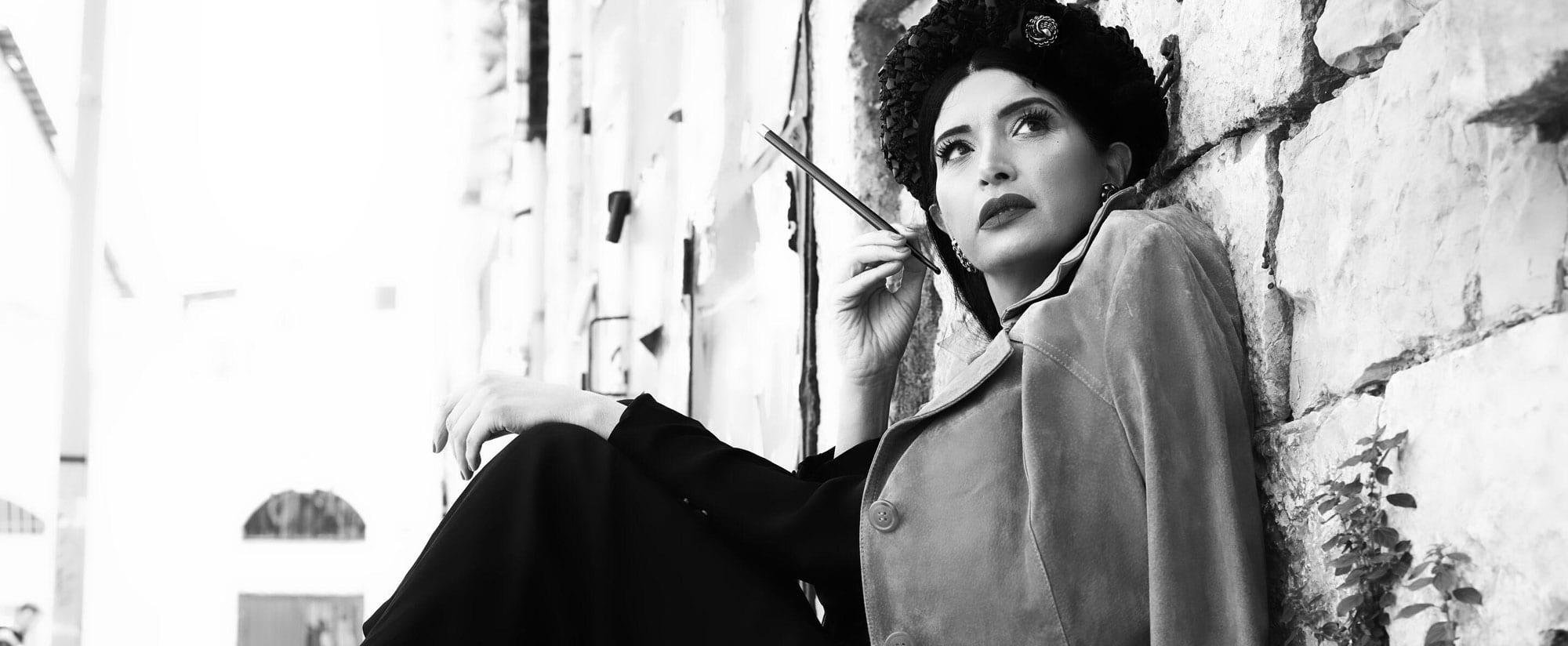 חליפה prada, גקט buberry - אוסף לוני וינטג. מאיה אושרי כהן. צילום: צילום: Kim Kandler
