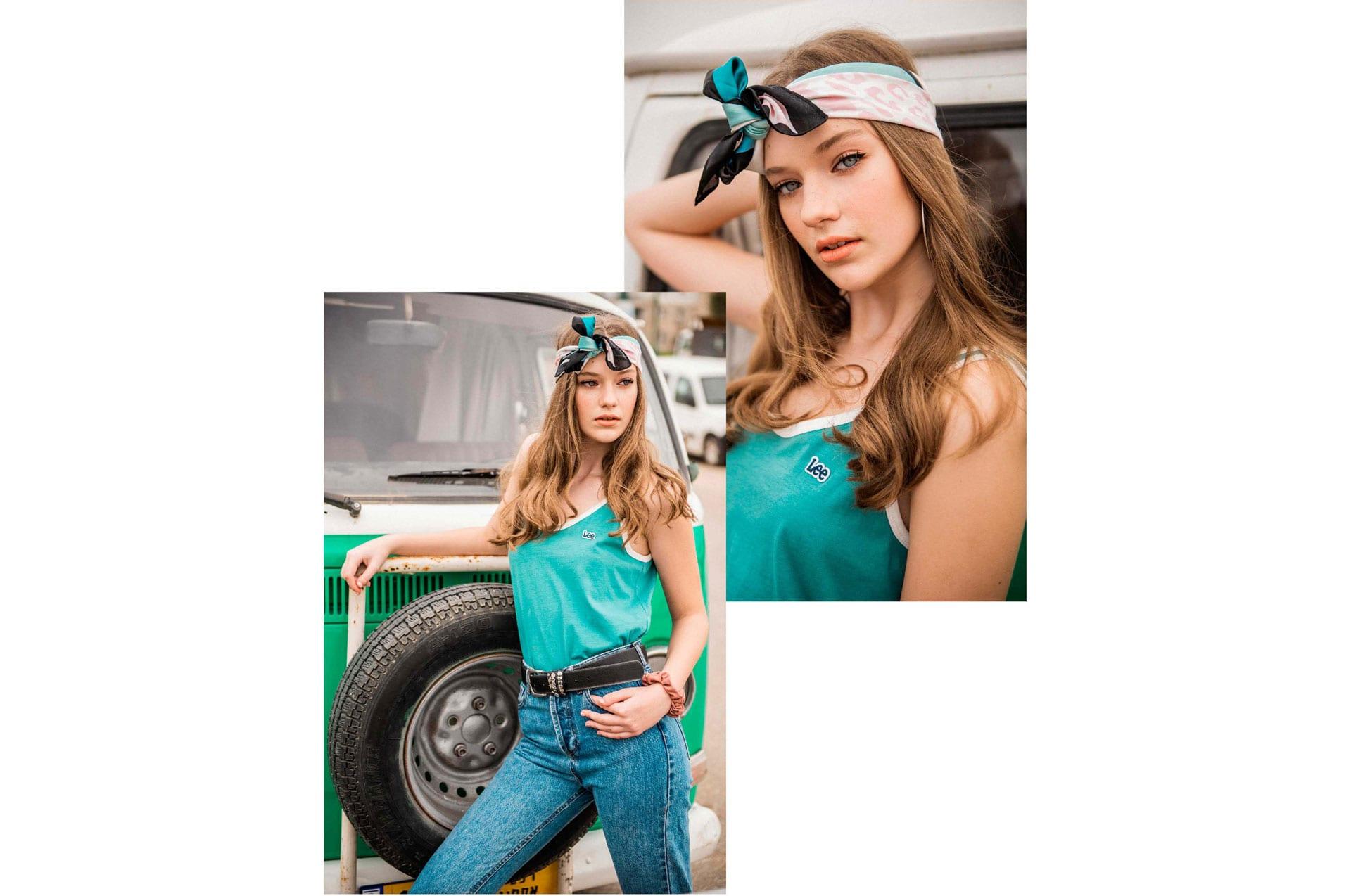 חולצה: פלמינגו (בוטיק וינטג׳), שמלה: stradivariusֿֿ, פאוץ׳: פלמינגו (בוטיק וינטג׳), עגילים: Bershka, הפקת אופנה: צילום: דניס גרצקיס, איפור: רעות גיא, סטיילינג: אורי לשם, וידיאו: שני רייך, דוגמנית: מליסה אובסיאניקוב ל׳רוברטו׳, צולם ב-Dr bug, אופנה -7