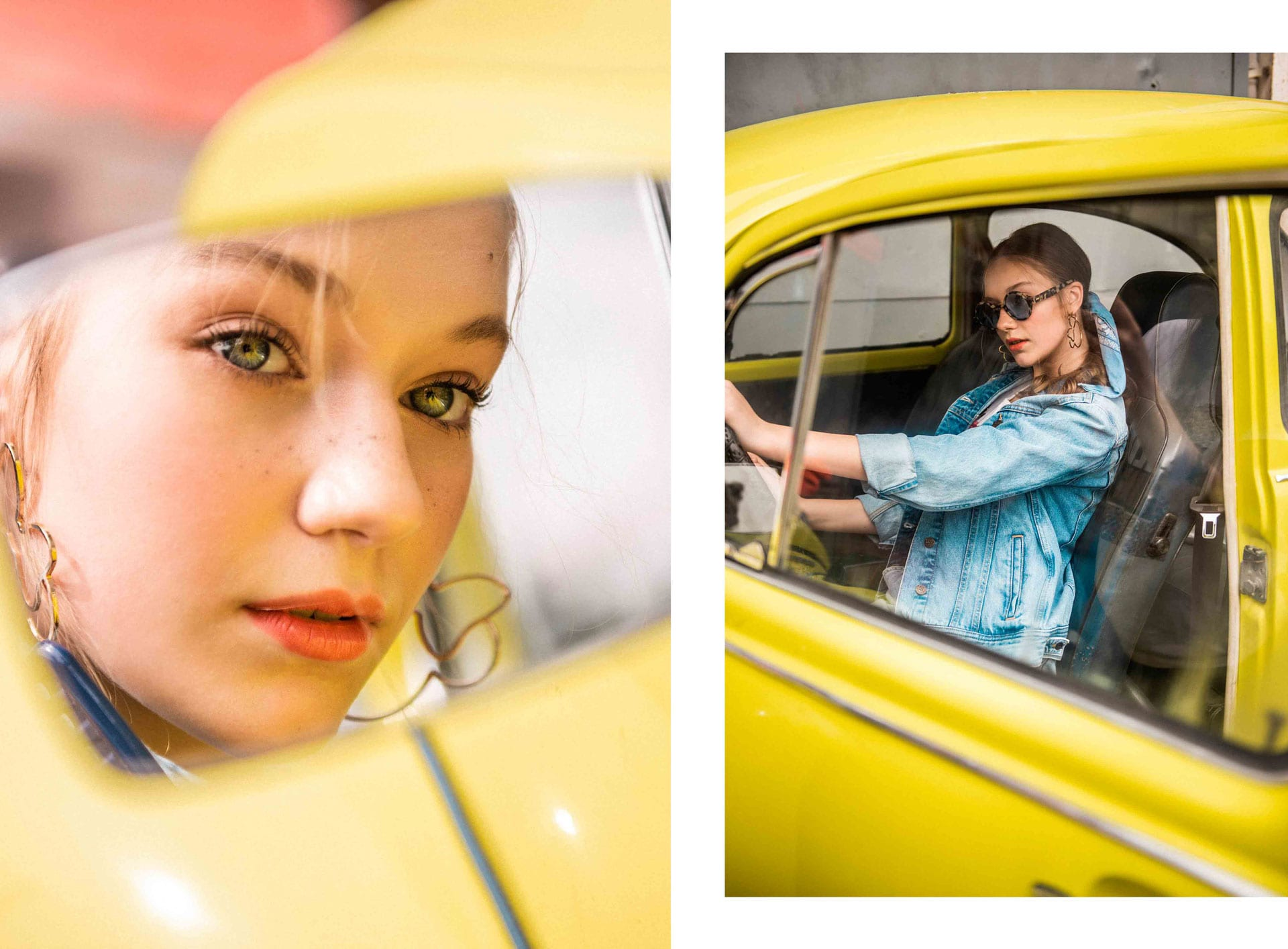 ג׳קט: lee, חולצה: h&m, חצאית: lee, בנדנה: top shop, עגילים: h&m, משקפיים: Tough Character, הפקת אופנה: צילום: דניס גרצקיס, איפור: רעות גיא, סטיילינג: אורי לשם, וידיאו: שני רייך, דוגמנית: מליסה אובסיאניקוב ל׳רוברטו׳, צולם ב-Dr bug, אופנה -3