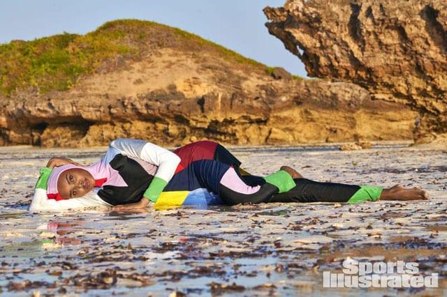 חלימה עדן בבורקיני, על גיליון בגדי הים של אחד המגזינים הנחשבים בעולם, SPORT ILLUSTRATED.