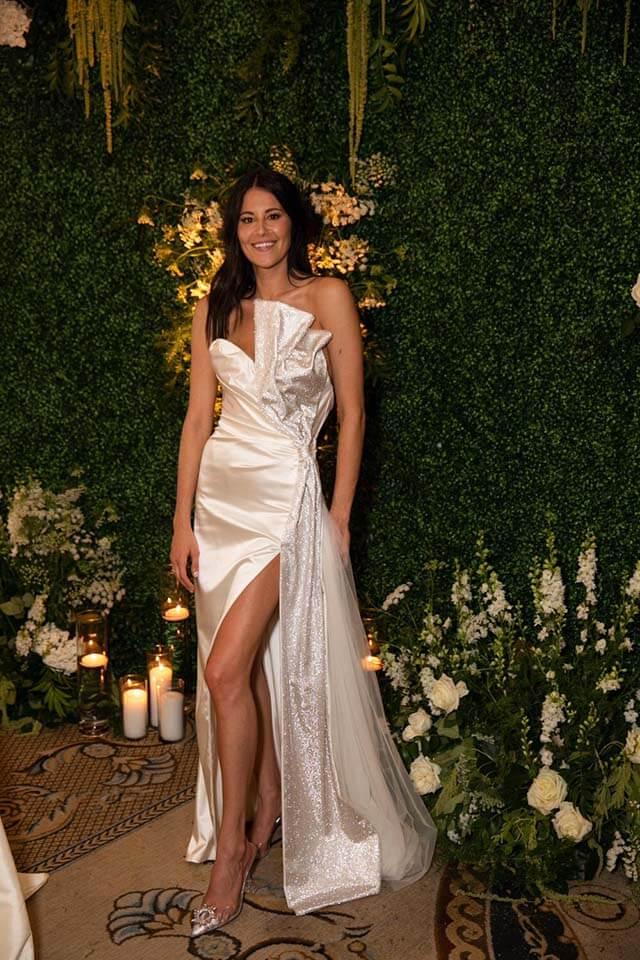 דני מישל, הסטייליסטית של הקרדשיאנס בשמלת גליה להב בחתונתה.