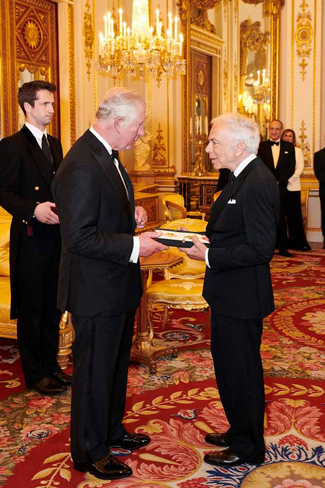 Ralph Lauren Presented with an Honorary UK Knighthood (Custom)