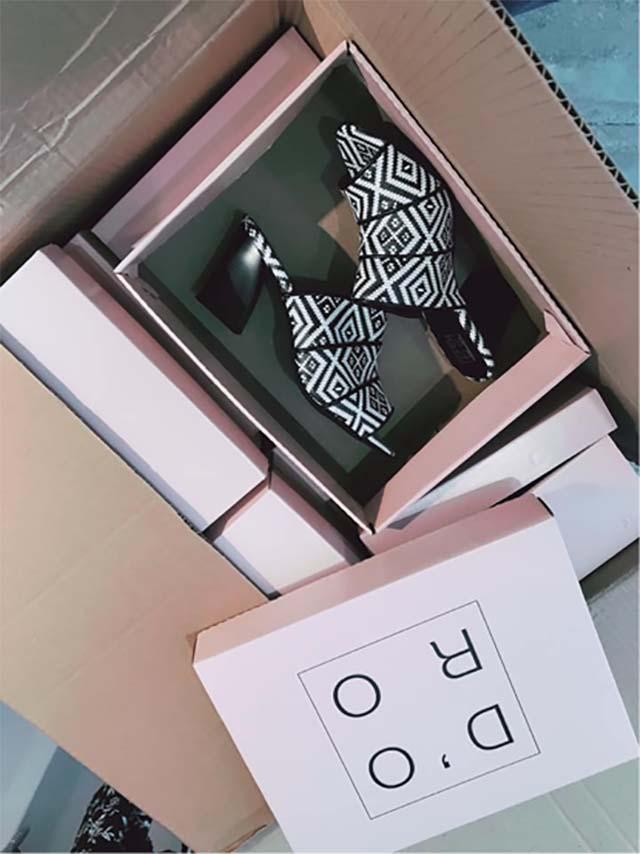 היי נעלי DORO אשמח שתארזו לי אותם, תודה! (תמונה מהפייסבוק של המותג).