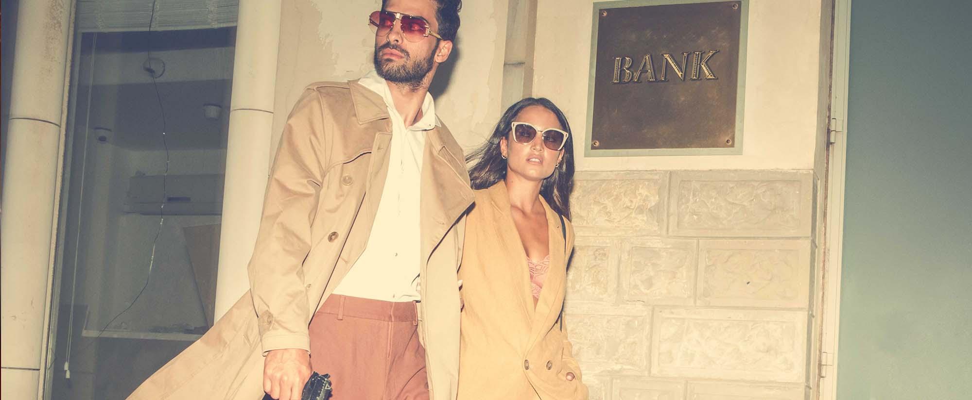 יובל - חולצה: H&M, מכנסיים Cos, ג׳ק:ט ונעליים: zara, משקפיים: יובל משקפיים: Celine. שאניה - חליפה: H&M, נעליים: mango, משקפיים: Prada , סטיילינג: אייל חג'בי, צילום: ניל כהן - בית ספר לצילום, רון קדמי, דוגמנים: יובל ביטון - סוכנות ״אלינור שחר״, שאניה הדר - סוכנות Passion Management, איפור: דלית לוי, עיצוב שיער: מירב אבן צור, אופנה 2020, Fashion Israel, חדשות אופנה 2020, כתבות אופנה 2020, טרנדים 2020, מגזין אופנה ישראלי