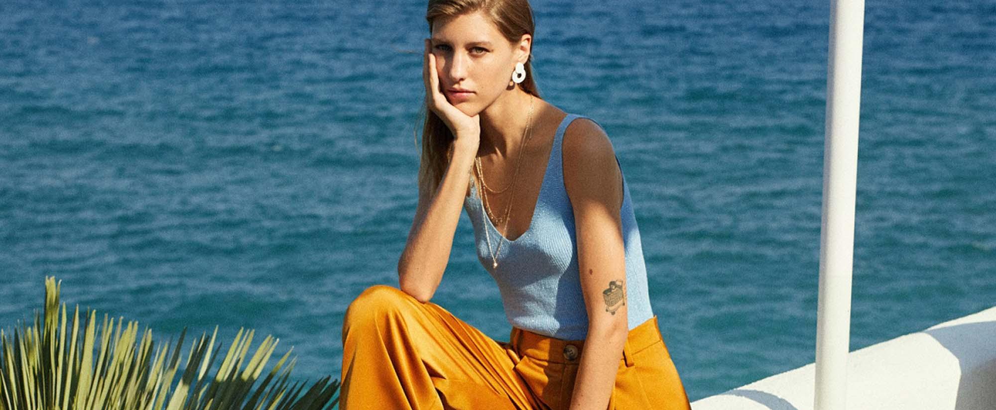Fashion Israel - 2020 חדשות אופנה, כתבות אופנה 2020, טרנדים, מגזין אופנה, אופנה - MANGO מחיר מכנסיים 299.90שח מחיר טופ 199.90שח