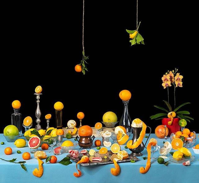 מגזין אופנה, צילום, 'טבע דומם פירות הדר'. צילום: איל גרניט