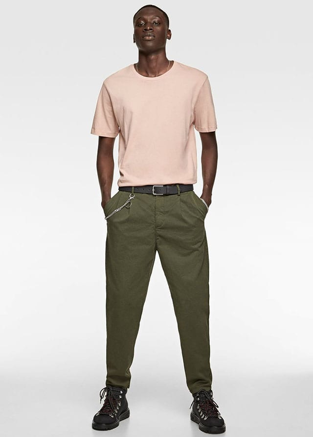 80s CHINO TROUSERS-NEW IN-MAN _ ZARA Israel