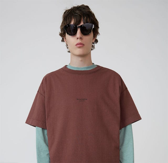 Oversized t-shirt chestnut brown