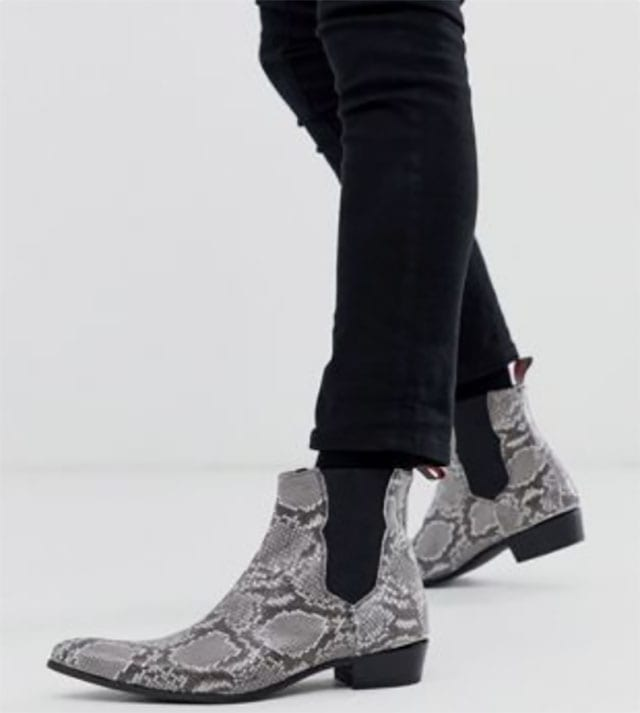 Jeffery West Adamant chelsea boot in snake leather