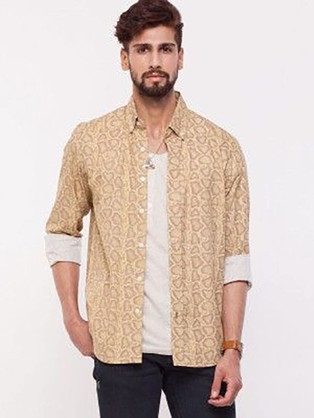 KOOVS Snake Print Shirt purchase online. צילום: פינטרסט