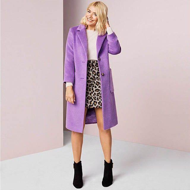 """אופנה, M&S on Instagram_ """"Just when we thought our animal print obsession couldn't get any bigger, we saw this leopard print and purple coat combination_ What's more…"""""""