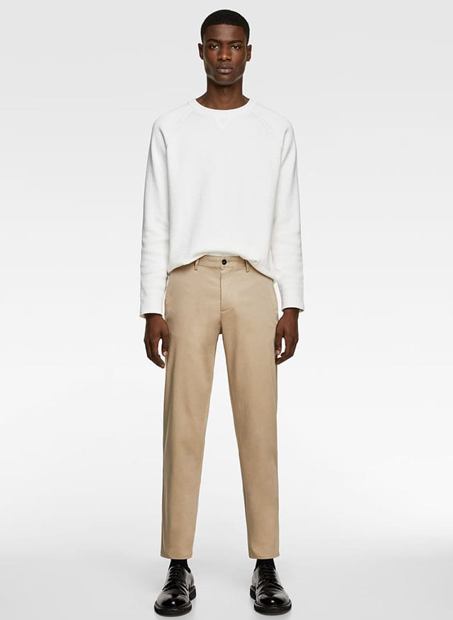 NEW CROPPED CHINOS-NEW IN-MAN _ ZARA Israel