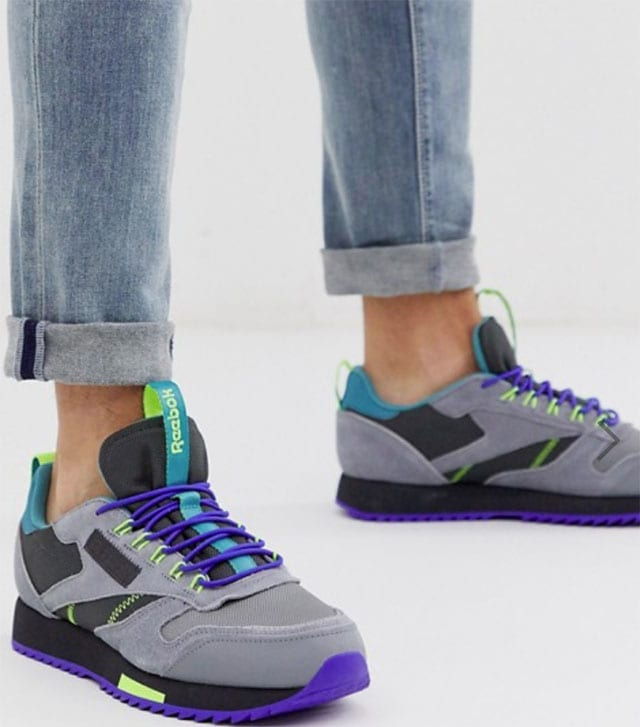 נעלי ספורט Reebok classic leather trainers trail edition. צילום: פינטרסט