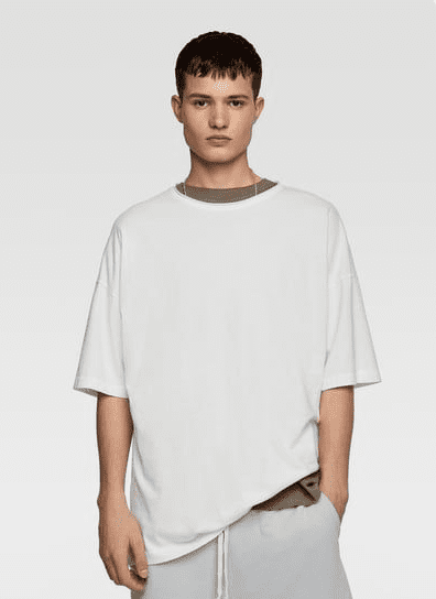 ZARA - Male - Essence oversized t-shirt - White - S