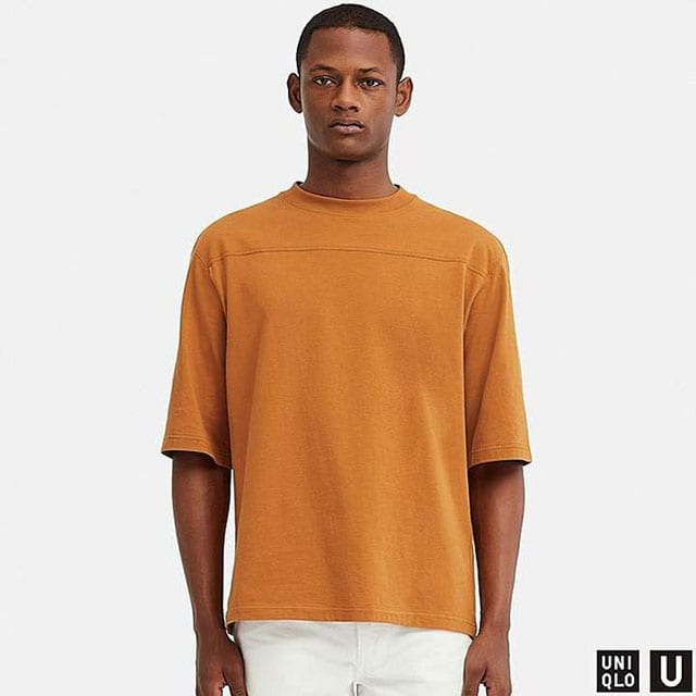 Uniqlo Men's U Oversize Crew Neck Half-sleeve T-Shirt