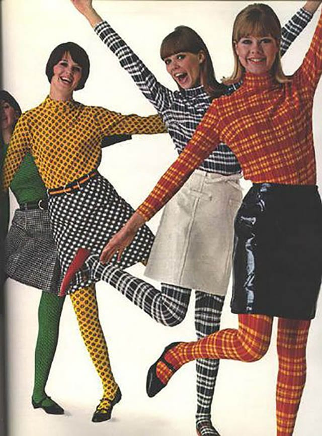 Colleen Corby Aug 1965_ Matching print tops and tights