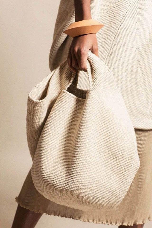 Lauren Manoogian - Natural Crochet Bowl Bag _ BONA DRAG