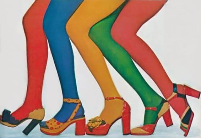 Super Seventies - 1970s shoes and stockings_
