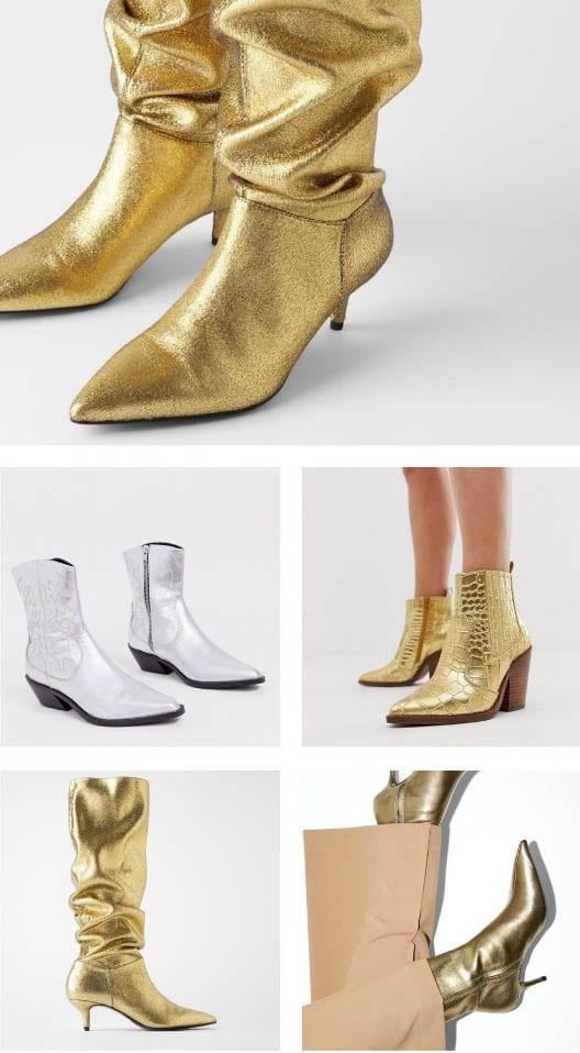 נעלי זהב נוצצים, נעליים -- טרנדים חורף 2020