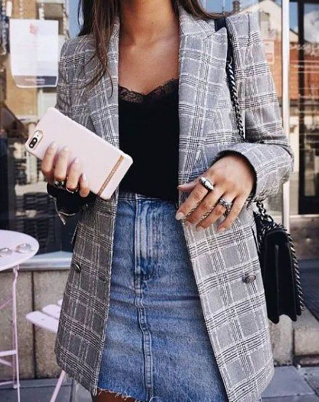 31+ Ideas Skirt Denim Outfit Street Style Jean Jackets For 2019, אופנה