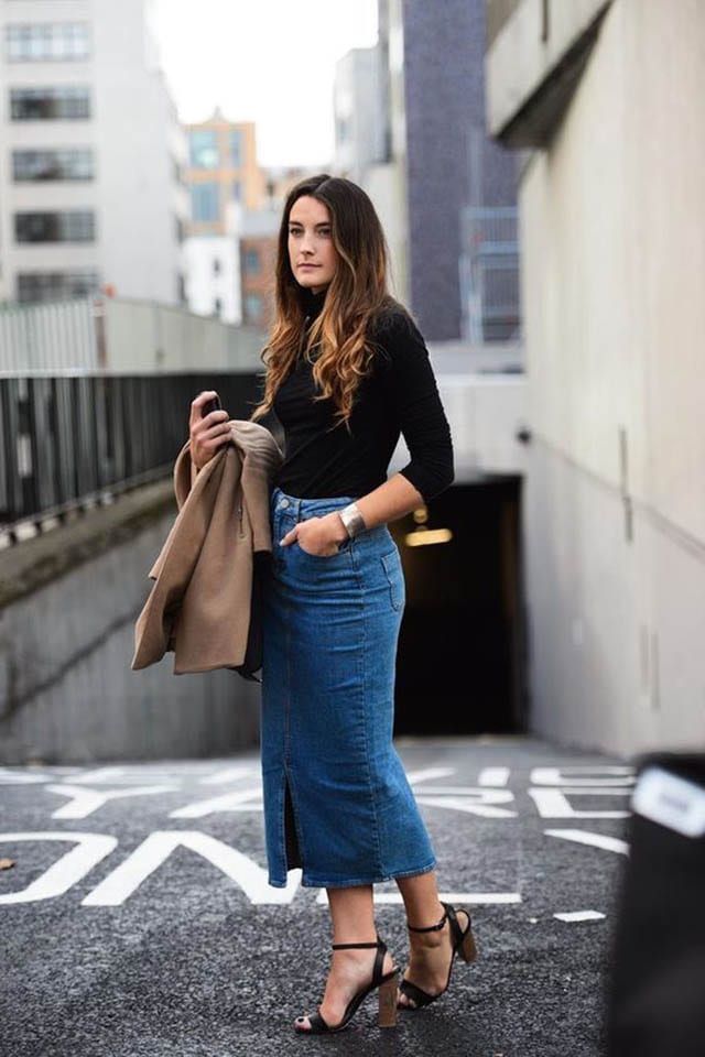 34 Ways To Style A Denim Skirt, As Told By Pinterest, חדשות אופנה