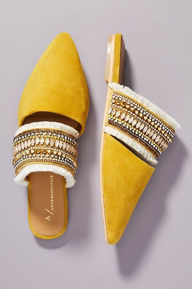 Anthropologie Delilah Embellished Slides, כתבות אופנה