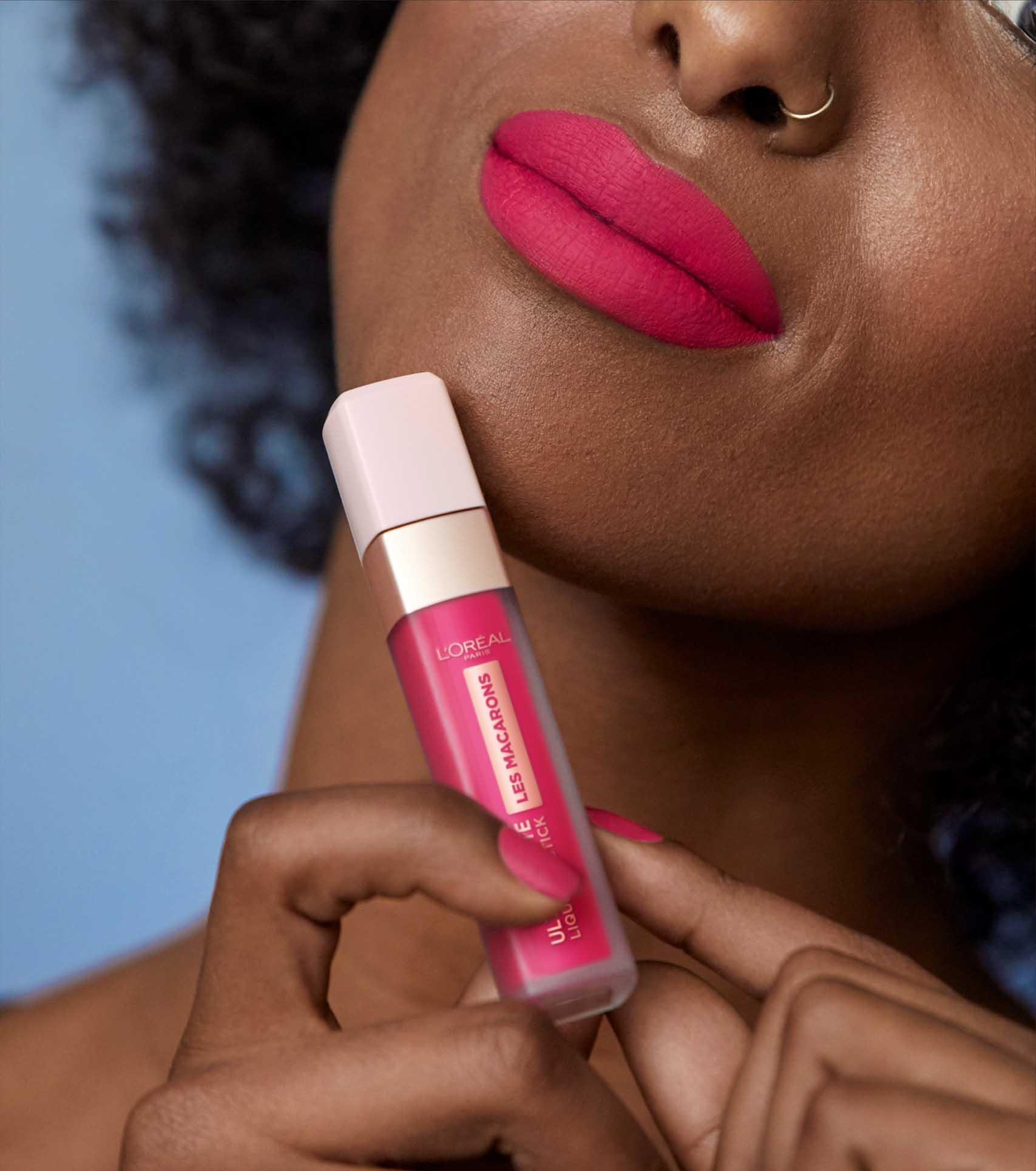 Valentine's Day 2020, לוריאל פריז שפתון לאש מקרון, שפתון נוזלי, איפור -3