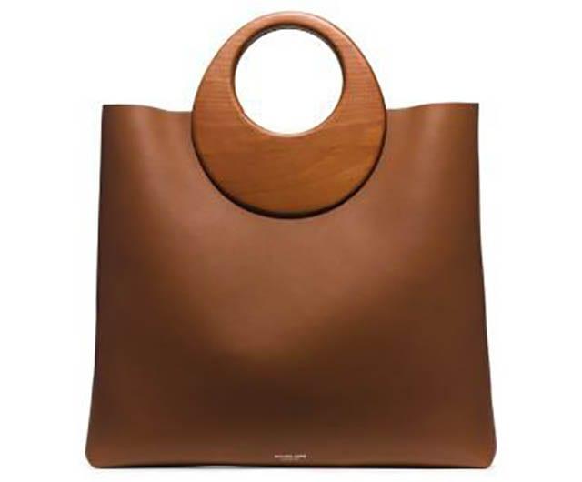 חדשות האופנה, Summerset Wooden-Handle Leather Tote _ Michael Kors