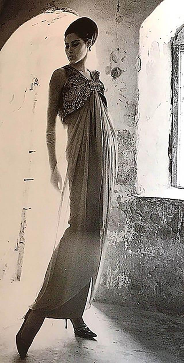 גדעון אוברזון, שמלת ערב סטודיו גברא 1965_מגזין אופנה