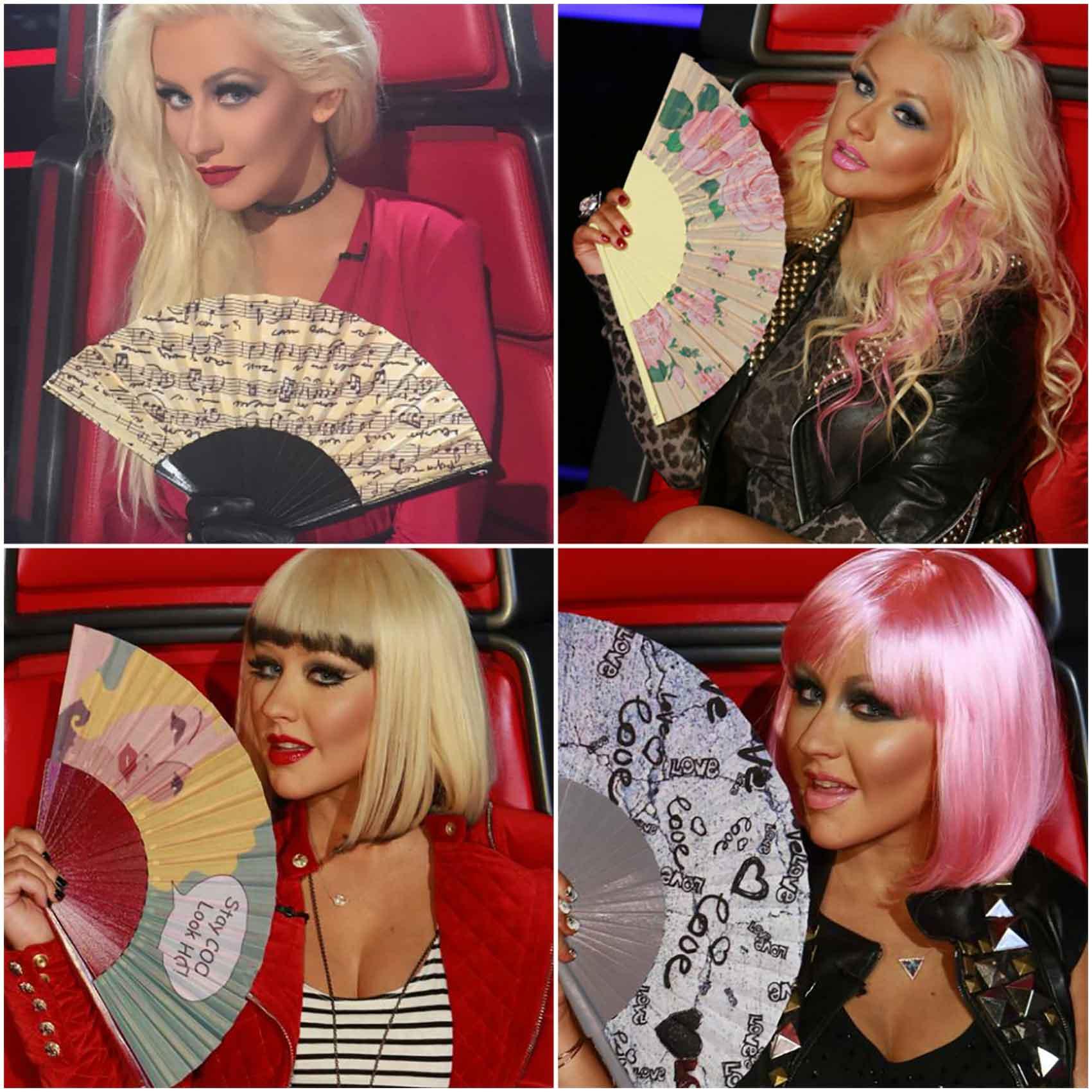 מניפות אופנה - Xtina-Aguilera-onThe-Voice-USA