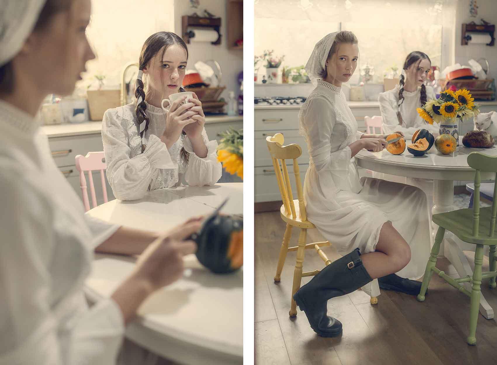 הפקות אופנה-צילום וסטיילינג: לימור צל גוזלן, איפור: ליאור שיין רוט, עיצוב שיער: נועם בושלין בכר, דוגמניות: אוליאנה איינדלננט, לירן ציון ל-Elite Israel-מגזין-אופנה-אונליין