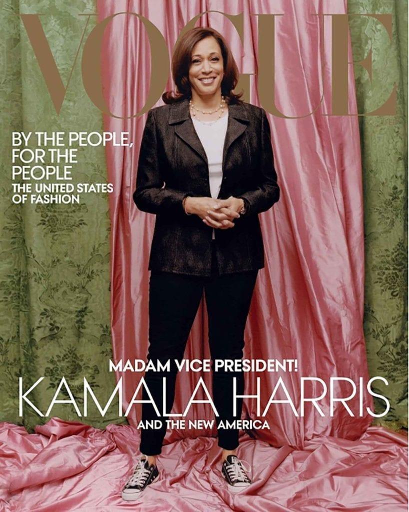 קמלה האריס על שער מגזין ווג. צילום מתוך האינסטגרם של ווג-אופנה