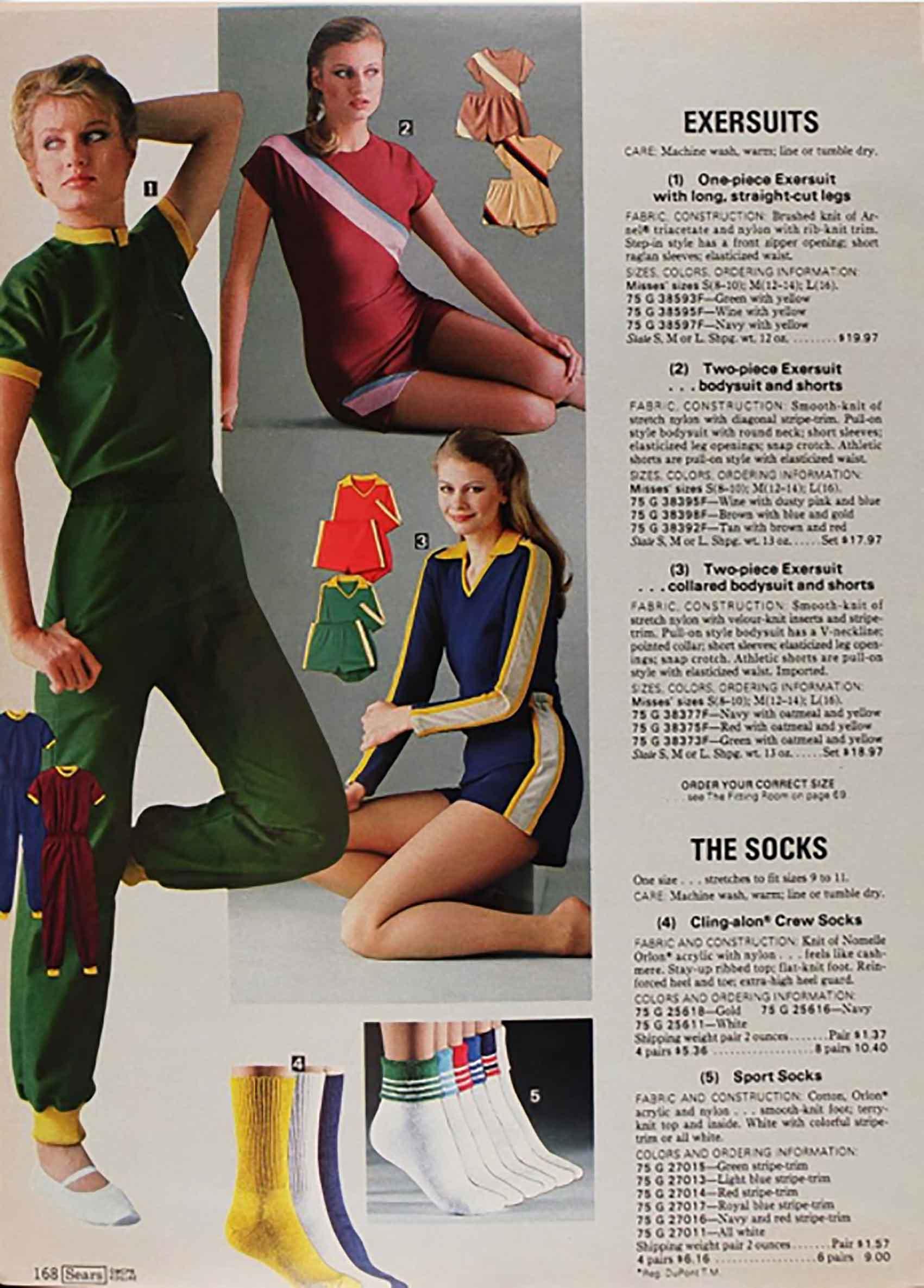 חליפות אקסר, קטלוג סירס 1978-מגזין אופנה