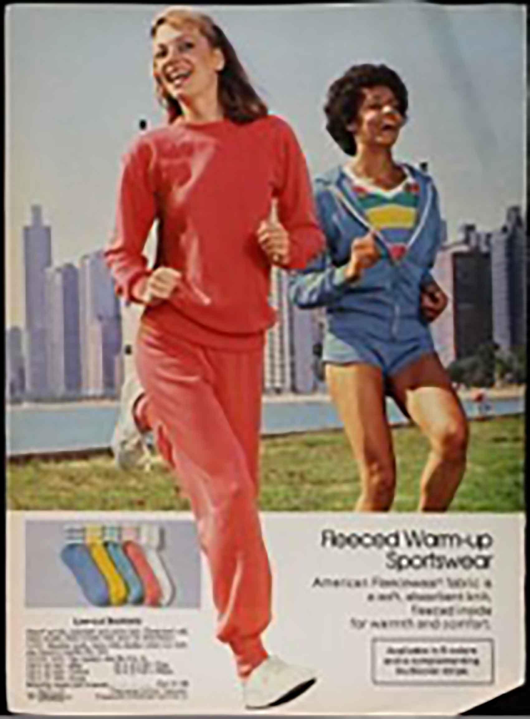 בגדי ספורט מנושלים, קטלוג סירס רובאק, 1982-אופנה