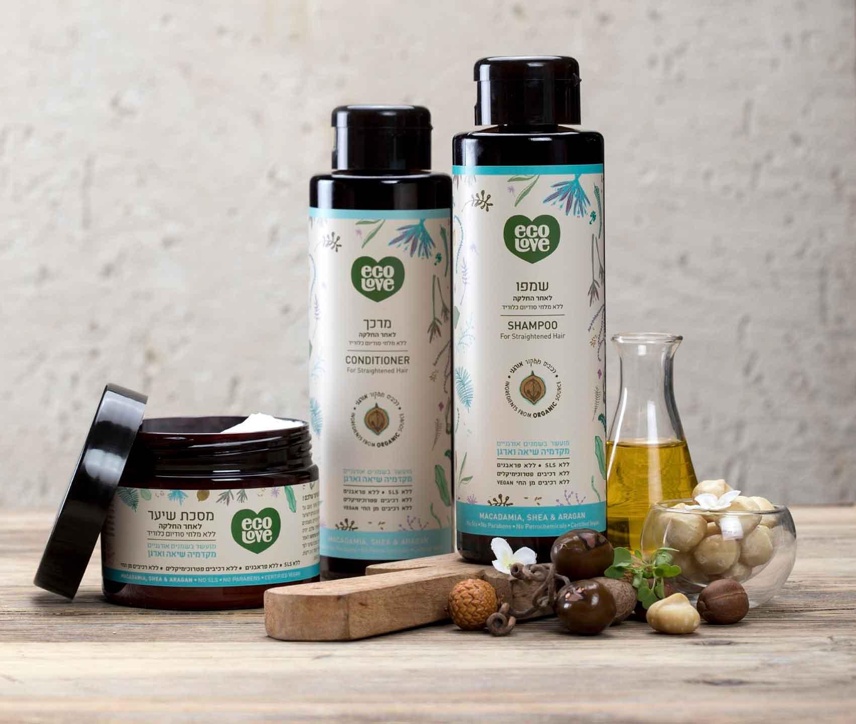 ecoLove-מוצרי-שיער-על בסיס-שמן-אגוזים