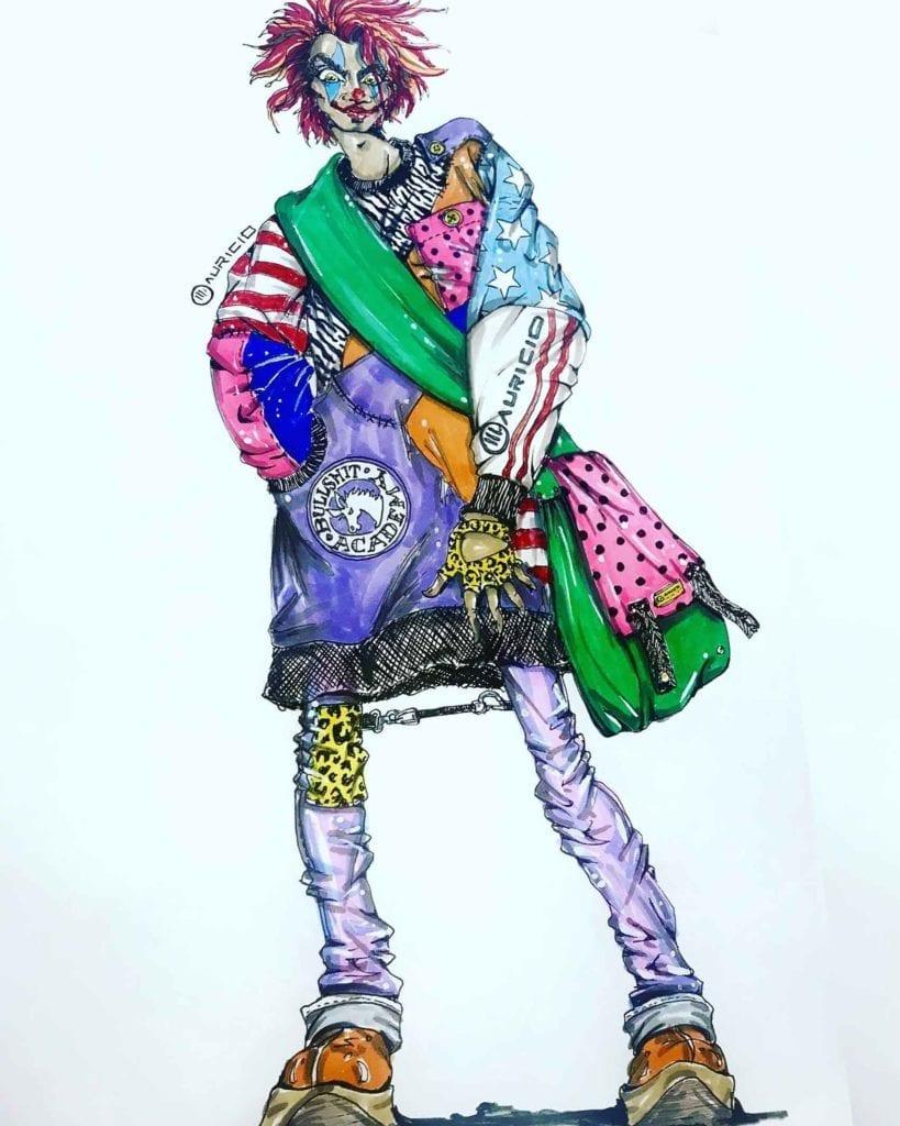 איורים של מאורסיו פולצ'ק לקולקציית ג'וקר-מגזין-אופנה